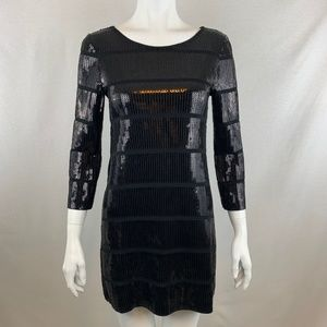 Theory Black Sequin Tunic Dress Size Petite
